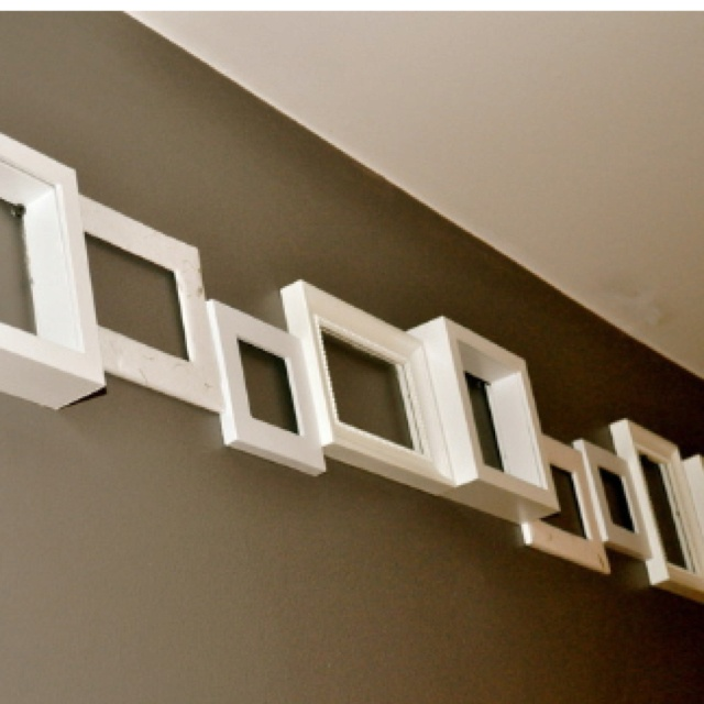 Use frames to create a wall border. 17 Best images about Border Paper on Pinterest   Drywall  Damasks