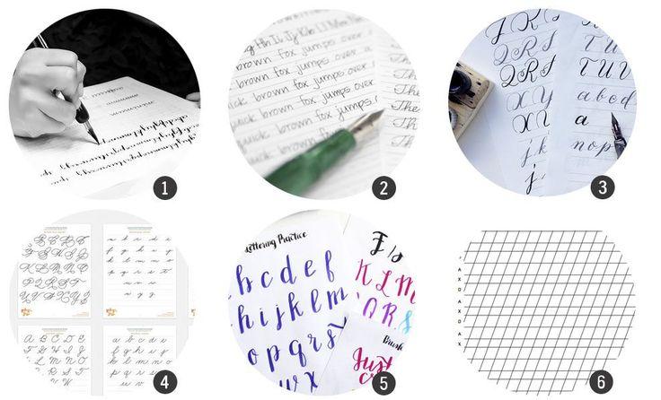 Imprimibles: 12 plantillas para practicar caligrafía o lettering | Cosas Molonas | Bloglovin'