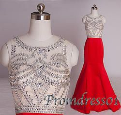 #promdress01 prom dresses, 2015 cute red satin short sleeve open back beaded long prom dress for teens, modest dress, occasion dress #promdress -> www.promdress01.c... #coniefox #2016prom