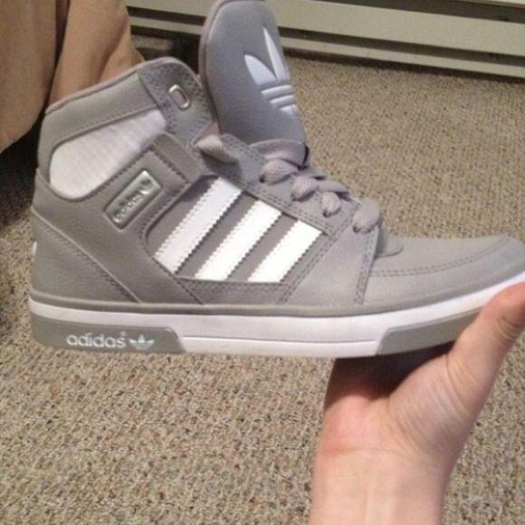 grey high top adidas