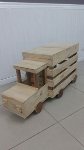 M s de 1000 ideas sobre camiones de juguete en pinterest - Guarda juguetes madera ...