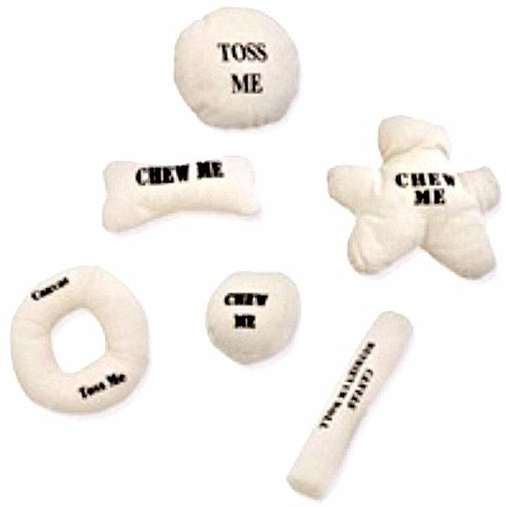 Dog Toys Mammoth Pet Products Natural Canvas Ball Disk Bone Roll Ring Doll Style #Mammoth