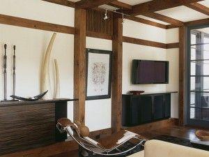Shingles Dividing The Room Japanisch WohnzimmerAsian WohnzimmerWohnzimmer InnenraumModerne