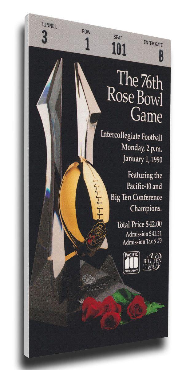 USC Trojans Wall Art - 1990 Rose Bowl Canvas Mega Ticket