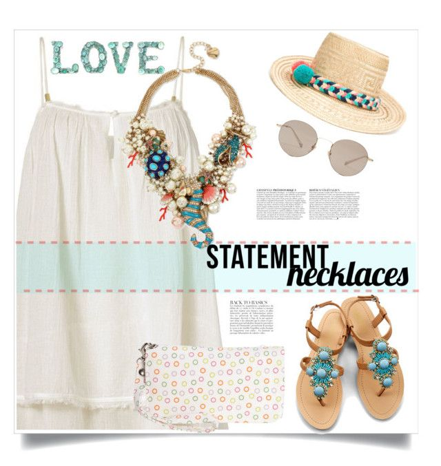 """Statement Necklace"" by judysingley-polyvore ❤ liked on Polyvore featuring Heidi Klein, Donna Sharp, Betsey Johnson, Gucci, OLIVIA MILLER, Anja, YOSUZI and statementnecklaces"