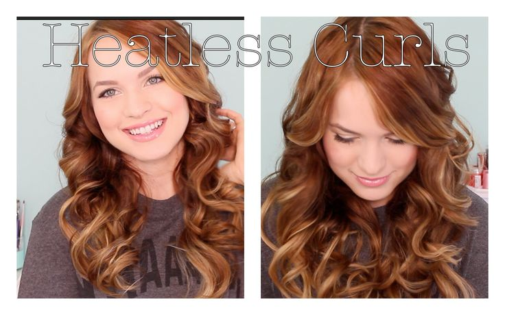 Heatless Curls! Found this on a hairstyle app but all the videos from it is also on YouTube wanna try this :))