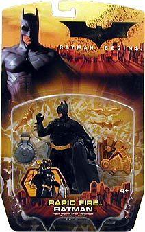 Batman Begins - Rapid Fire  5`` scale (14cm) action figure from the latest Batman Movie Batman BeginsFeatures blade-throwing  http://www.comparestoreprices.co.uk/action-figures/batman-begins-rapid-fire.asp