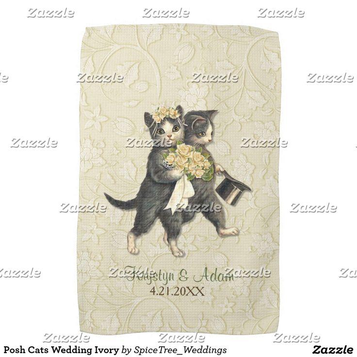 grumpy cat wedding invitations%0A Shop Posh Cats Ivory Wedding Invitation created by SpiceTree Weddings