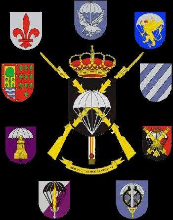 Banderas de la Brigada Paracaidista. Spanish Army. AJFR