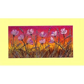 Quadri Fiori Astratti Fiori lilla al tramonto- Materico acrilico su tela- Dim. 30x60 http://www.gartem.it/Fiori-lilla-al-tramonto-quadri-fiori-astratti