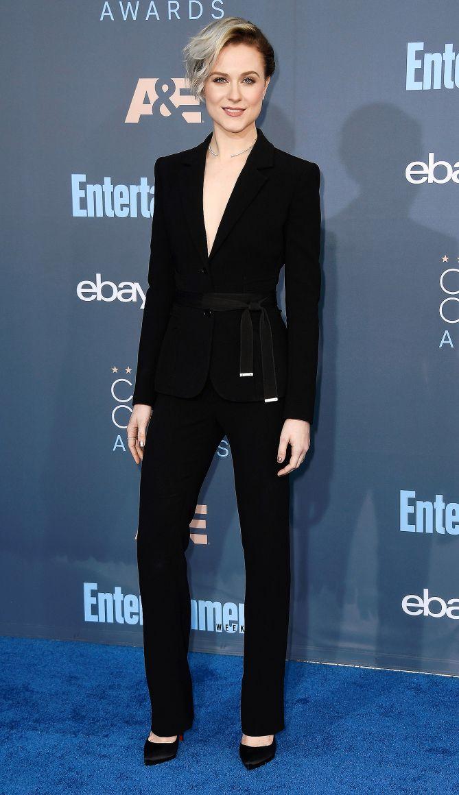 Critics Choice Awards 2016 Best Dressed Stars - Evan Rachel Wood in an Altuzarra suit