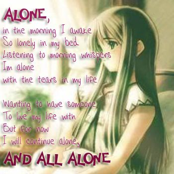 Sad Anime Girl | All Alone by Blue Latte