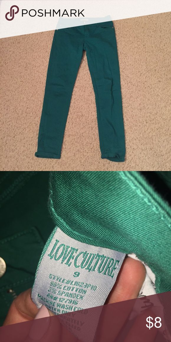 Emerald green skinny jeans Emerald green skinny jeans Love Culture Jeans Skinny