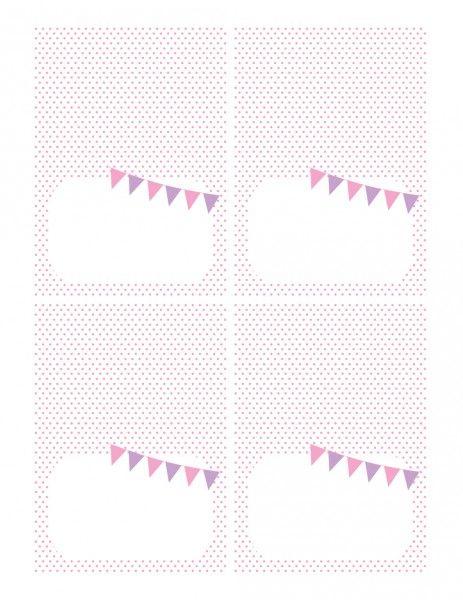 FREE Pink and Purple (Girl) Birthday Printables