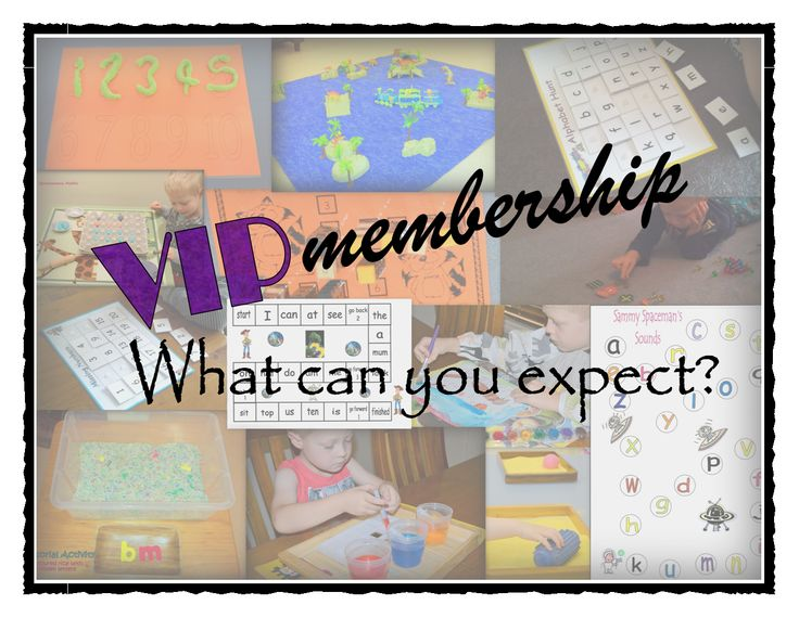 Fun, educational activities and games for you to create at home!  The aim of our VIP Membership is to guide parents in creating these activities for themselves, with materials they can find around the home.
