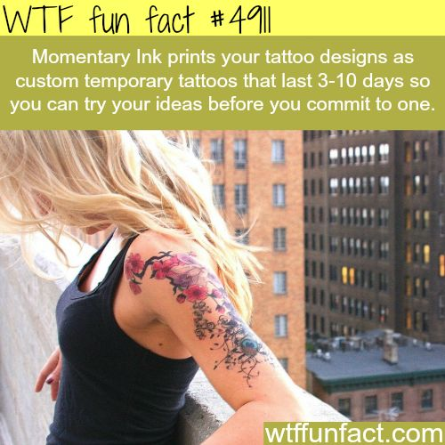 Momentary Ink - Temporary Tat's! ~WTF fun facts - more interesting & weird facts HERE!