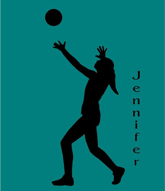 Female Volleyball Player Personalized Vinyl Wall by route3studios, $18.00
