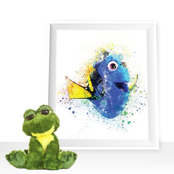 Finding Nemo print, Nemo wall decor, Dory printable, Disney print Dory watercolor Disney printable, Dory poster, Nemo wall art, Nemo digital by HappyLittleFrog on Etsy
