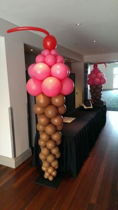 Ice cream balloon sculpture. www.balloons.com.au