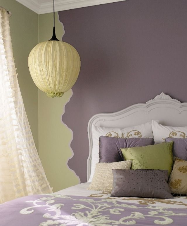 Die besten 25+ Kopfteil streichen Ideen auf Pinterest gestreifte - schlafzimmer lila streichen