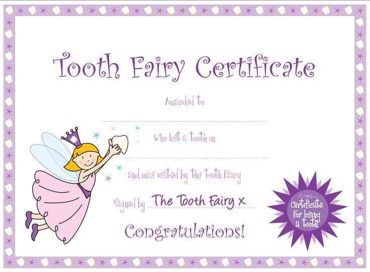 Refreshing image pertaining to tooth fairy certificate printable girl