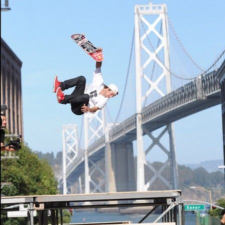 Skateboarder Ryan Sheckler on the Mountain Dew Tour City Championships