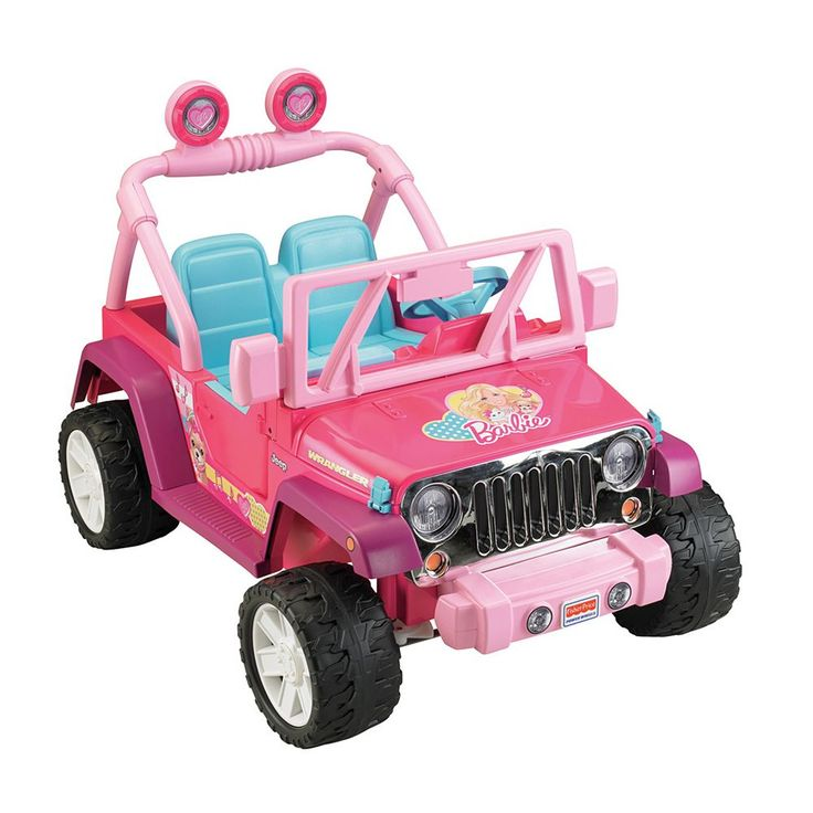 Power Wheels Barbie Ride-On Jeep Wrangler by Fisher-Price, Multicolor