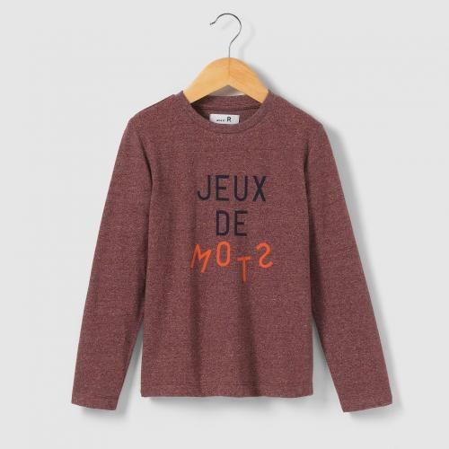 #T-shirt a maniche lunghe con scritta 3-12 Viola  ad Euro 6.95 in #R edition #La redoute bambino bambino 3 16