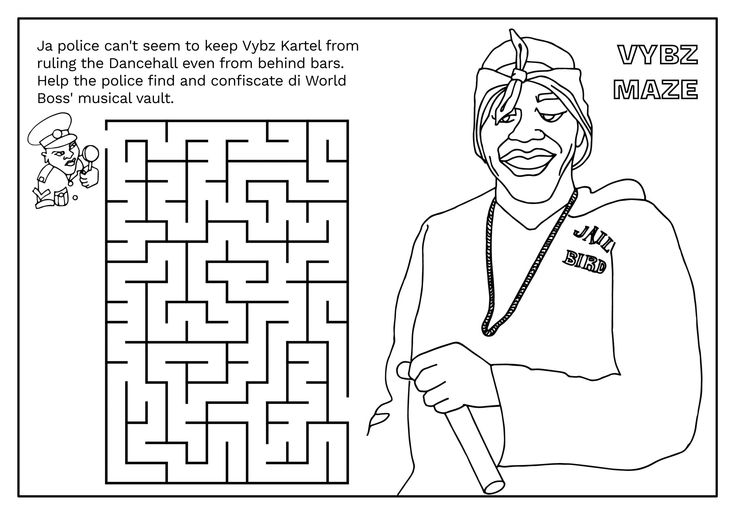 Vybz Kartel Maze Dancehall Colouring Book Largeup