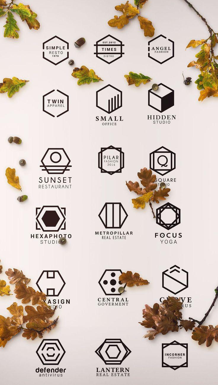 150+ Minimal Hexagon Logo Templates - Logos - 20