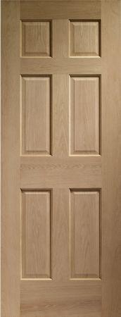 Colonial / Regency Oak internal FD30 Fire Door with out raised beading