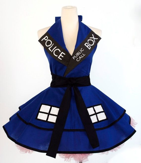 Made to Order Dr.Who Tardis Pinafore by OliviasStudio on Etsy, $160.00