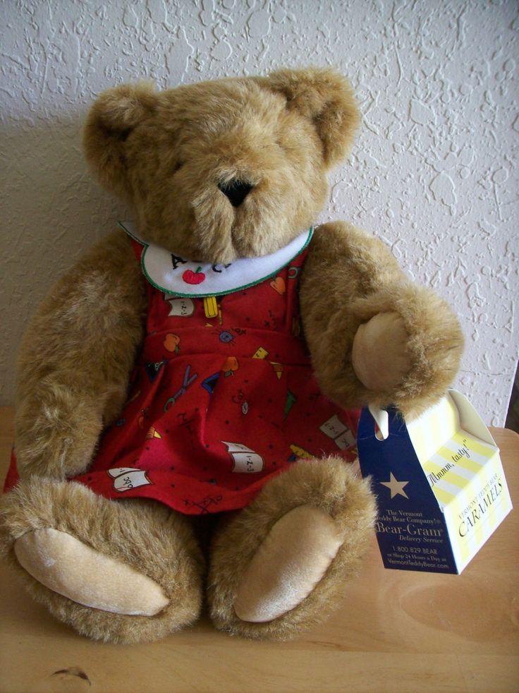 Vermont Teddy Bear Jointed Teacher Teddy Bear