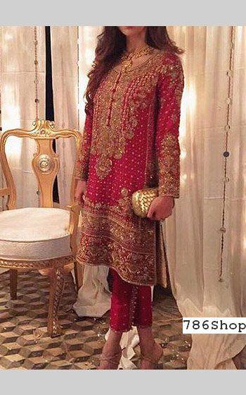 Magenta Crinkle Chiffon Suit | Buy Pakistani Indian Dresses
