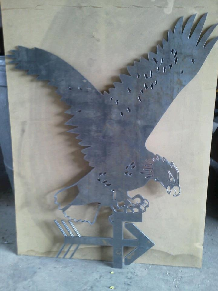 Metal Art Eagle Cut Using A Burntables Cnc Plasma Table