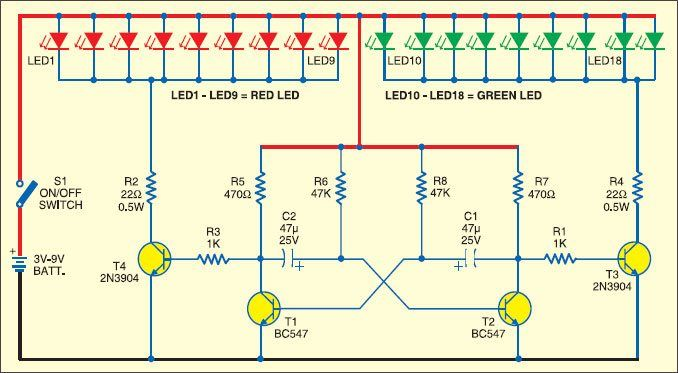 Christmas Lights Using Leds Detailed Circuit Diagram Available Led Christmas Lights Christmas Lights Transistors