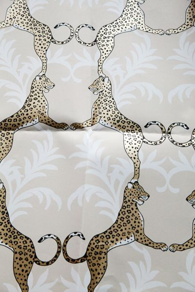 oh my lord! bathroom or entry or hall such a gorgeous glamorous wall treat! Cheetah wallpaper-Thibaut