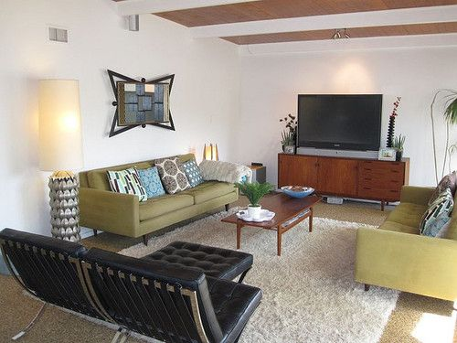 10 best mid century modern images on pinterest living room ideas modern living rooms and for Barcelona chair living room ideas