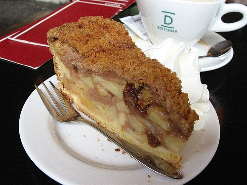 Along with the coffee checkout the apple pie at Dudok's, Rotterdam! I love it!