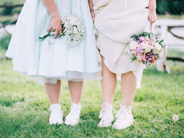 Bride and Bridesmaids in Converse! Captured by Lisa O'Dwyer