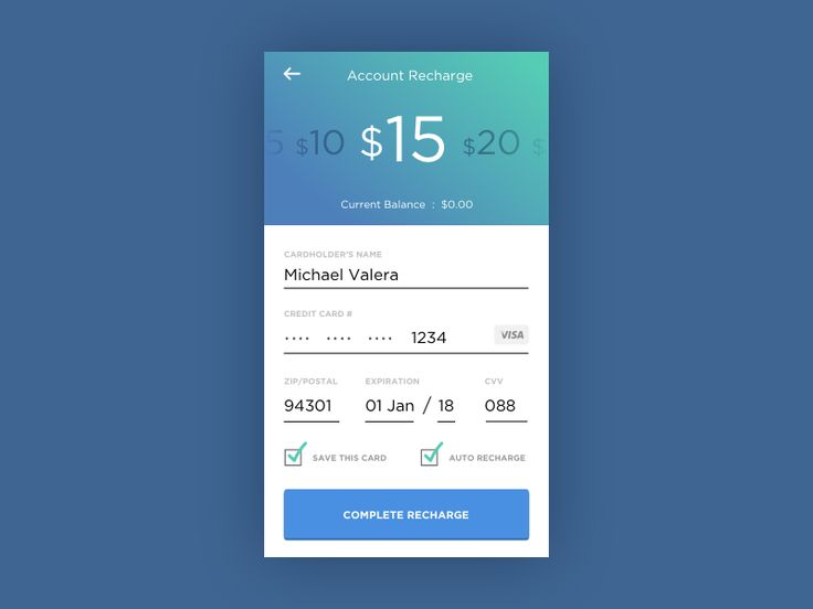 A simple mobile credit card interface. Brings me back to my days in VoIP, where…