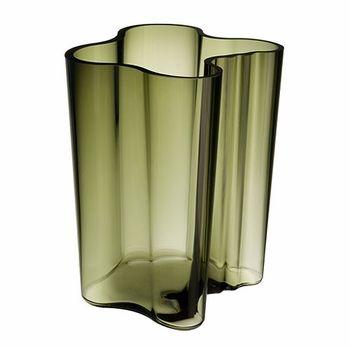 Iittala Aalto Moss Green Vase - 7-1/4