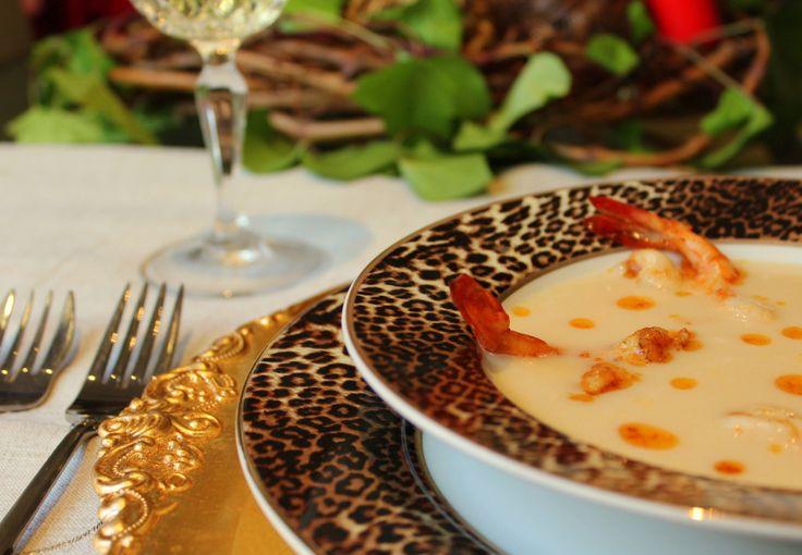 crema de pescado y langostinos-2