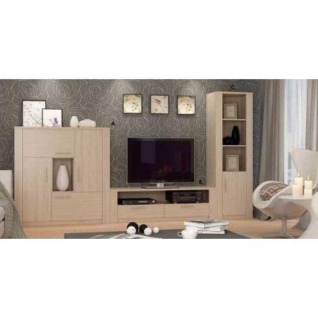Conjunto para Salón TWIST es elegante, sencillo pero a la vez moderno. A la vista parece un mueble pequeño pero no lo es, sus 127 cm. de largo darán un toque a tu salón diferente gracias a precioso diseño y su color Olmo.