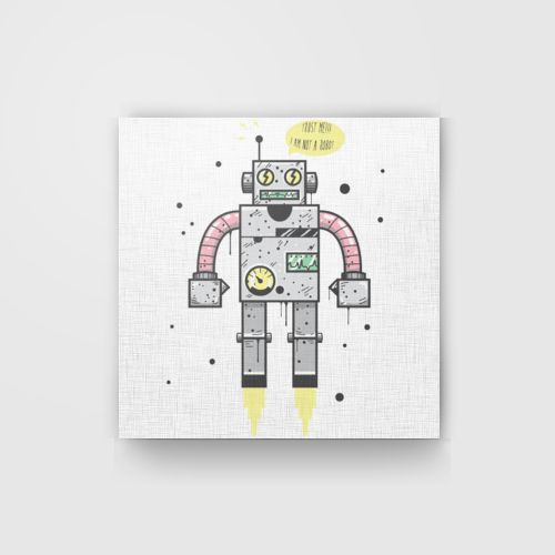 I Am Not A Robot dari Tees.co.id oleh Bacteria Art