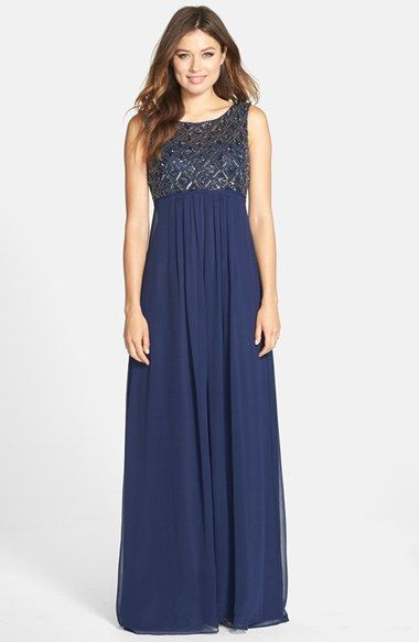 JS+Boutique+Beaded+Empire+Waist+Gown+available+at+#Nordstrom