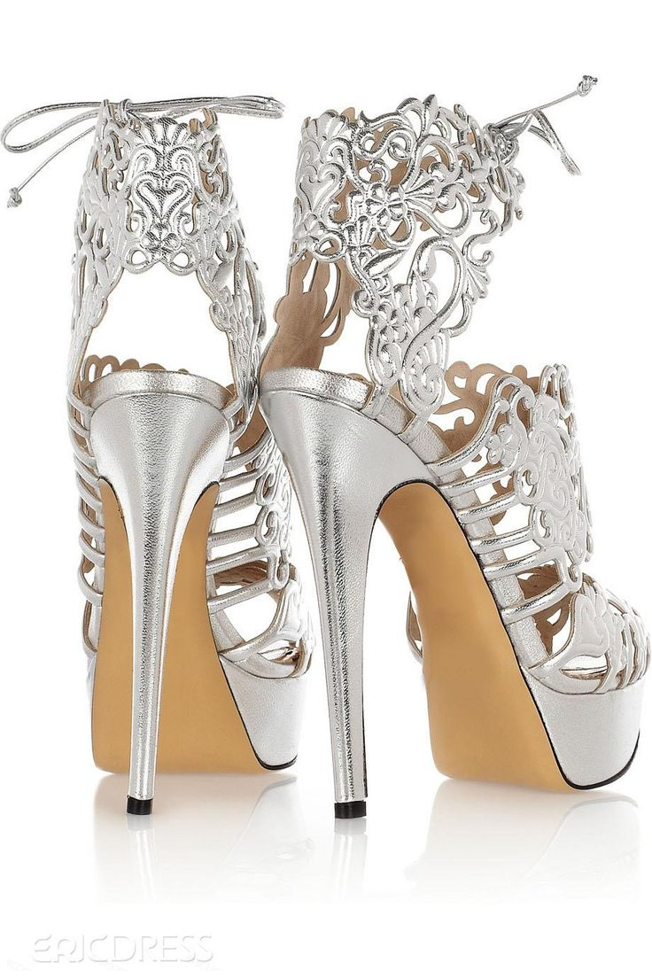 Elegant Silver Heels