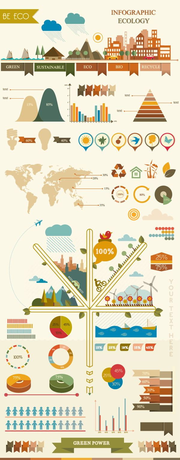 Infographic elements by Adina Neculae, via Behance