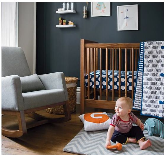 i like the colors in this nursery... black, brown, grey