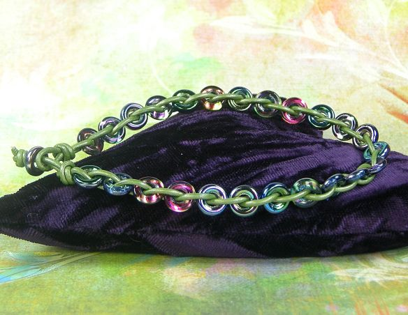 Here's another #tutorial to get your creative juices flowing today… a #Leather and O-Bead #Anklet! Learn #howto make it on our blog… http://bellomodo.wordpress.com/2014/05/28/leather-anklet/  #handmade #diy #jewelry